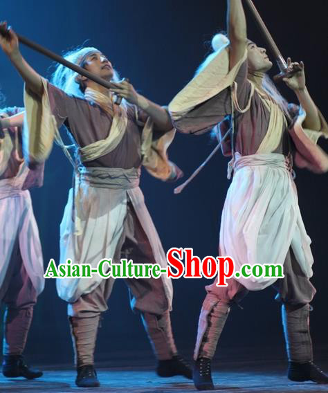 Chinese Impression of Suzhou Ancient Civilian Clothing Stage Performance Dance Costume for Men