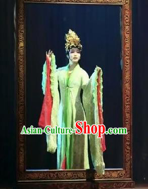 Chinese Zhaojun Chu Sai Ancient Court Classical Dance Dress Stage Performance Costume and Headpiece for Women