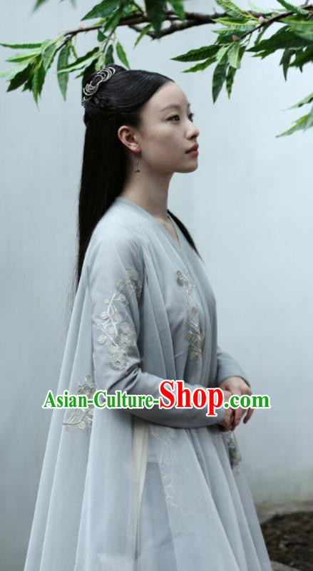 Chinese Drama Ancient Nobility Lady Dress Love and Destiny Goddess Ling Xi Ni Ni Replica Costumes for Women