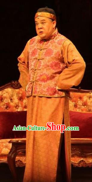 Chinese Unsurpassed Beauty Of A Generation Ancient Qing Dynasty Ministry Councillor Clothing Stage Performance Dance Costume for Men