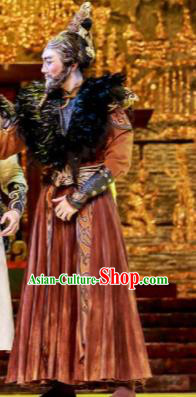 Lady Zhaojun Chinese Mongol Nationality King Clothing Stage Performance Dance Costume for Men