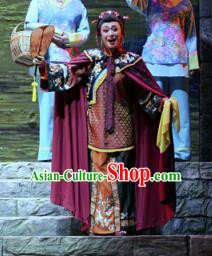 Chinese Moon Shines On Sugarbush Ferry Dance Dowager Countess Dress Stage Performance Dance Costume and Headpiece for Women