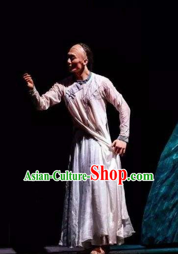 Nostalgia Is A Disease Chinese Ancient Scholar Classical Dance Clothing Stage Performance Dance Costume for Men