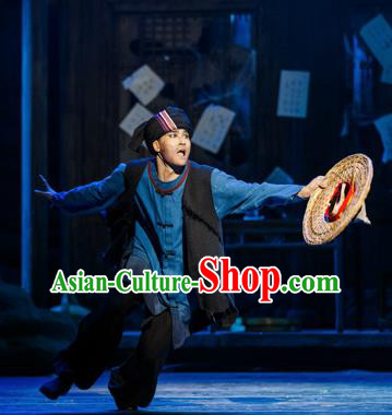 Impression Shanha Chinese She Nationality Male Clothing Stage Performance Dance Costume for Men