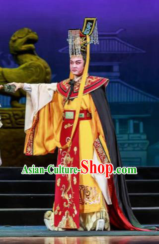 Chinese Bronze Swallow Terrace Cao Pi Clothing Stage Performance Dance Costume for Men