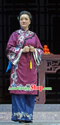 Shi Niang Chinese Classical Dance Old Lady Dress Stage Performance Dance Costume and Headpiece for Women