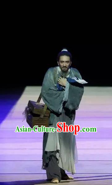 Drama Chinese Orphan Chinese Ancient Clothing Stage Performance Dance Costume and Headpiece for Men