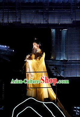 Return To the Three Gorges Chinese Ancient Scholar Clothing Stage Performance Dance Costume for Men