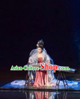 Return To the Three Gorges Chinese Classical Dance Ancient Imperial Consort Dress Stage Performance Costume and Headpiece for Women
