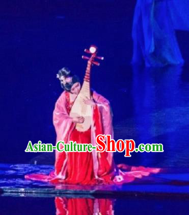 Return To the Three Gorges Chinese Classical Dance Ancient Court Dress Stage Performance Costume and Headpiece for Women