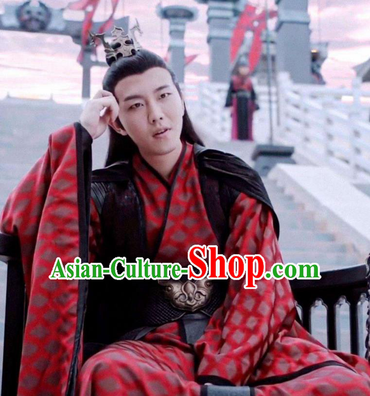 Chinese Drama The Untamed Ancient Prince Swordsman Red Costumes for Men