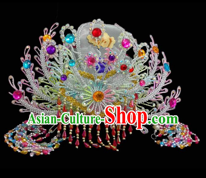 Chinese Traditional Beijing Opera Hair Accessories Peking Opera Diva Phoenix Coronet for Adults
