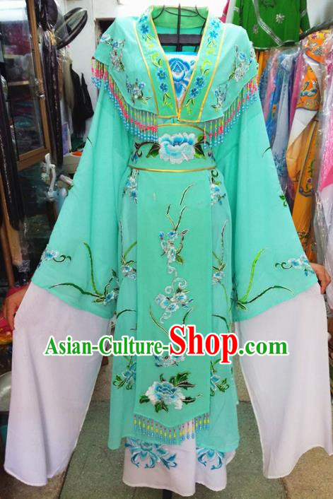 Chinese Traditional Beijing Opera Costume Peking Opera Princess Green Dress for Adults