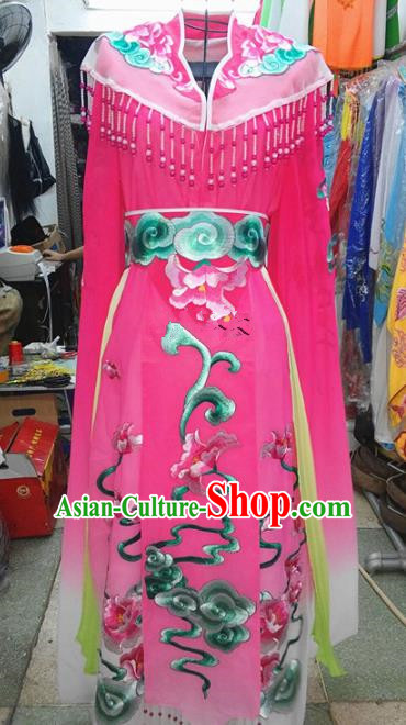 Chinese Traditional Beijing Opera Princess Costume Peking Opera Actress Rosy Dress for Adults