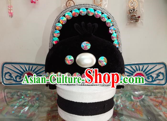 Chinese Traditional Beijing Opera Headwear Peking Opera Number One Scholar Official Hat for Adults