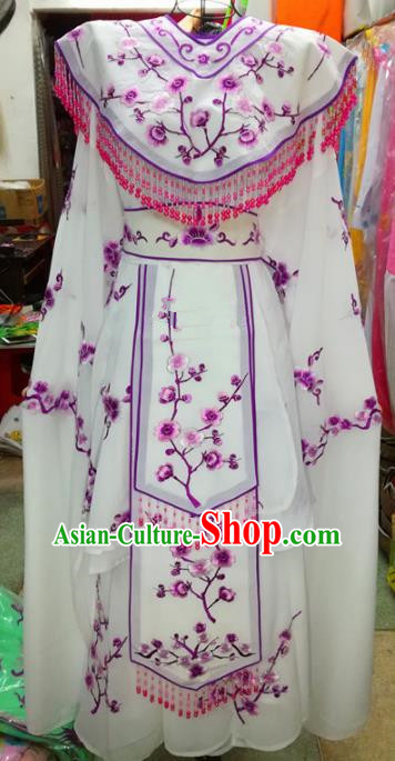 Chinese Traditional Beijing Opera Princess Costume Peking Opera Diva Embroidered Plum Blossom Dress for Adults