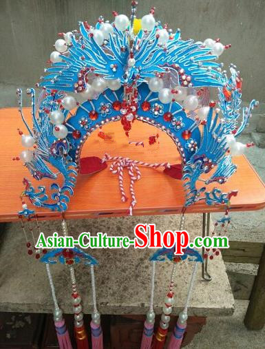 Chinese Traditional Beijing Opera Actress Phoenix Coronet Head Ornaments Hair Accessories for Adults