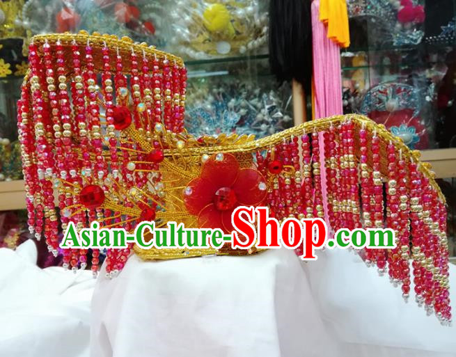 Chinese Traditional Beijing Opera Imperial Consort Head Ornaments Hat Hair Accessories for Adults