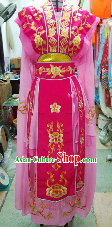 Chinese Traditional Beijing Opera Nobility Lady Pink Dress Peking Opera Actress Costume for Adults