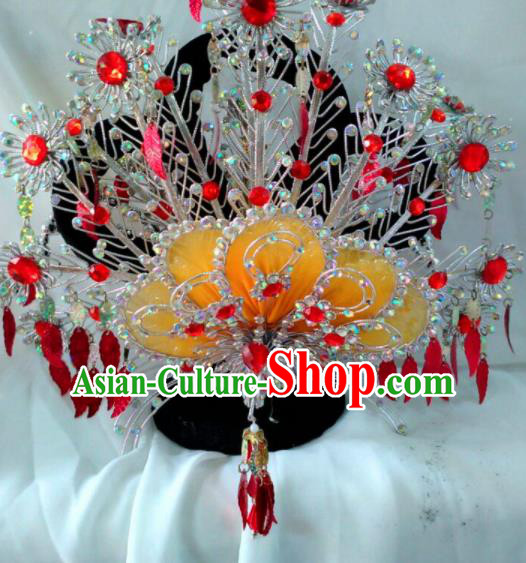 Chinese Traditional Beijing Opera Diva Phoenix Coronet Princess Hair Accessories for Adults