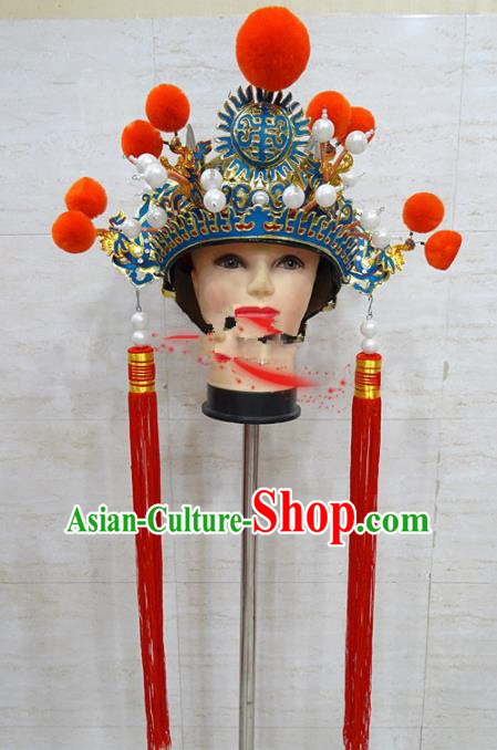 Chinese Traditional Beijing Opera Eunuch Hat Ancient Helmet Headwear for Adults