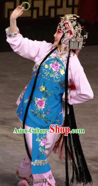 Chinese Traditional Beijing Opera Mui Tsai Dress Ancient Maidservants Costume for Adults