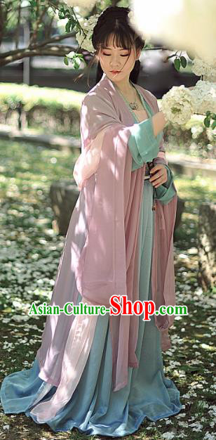 Chinese Ancient Aristocratic Lady Hanfu Dress Tang Dynasty Princess Historical Costumes Complete Set