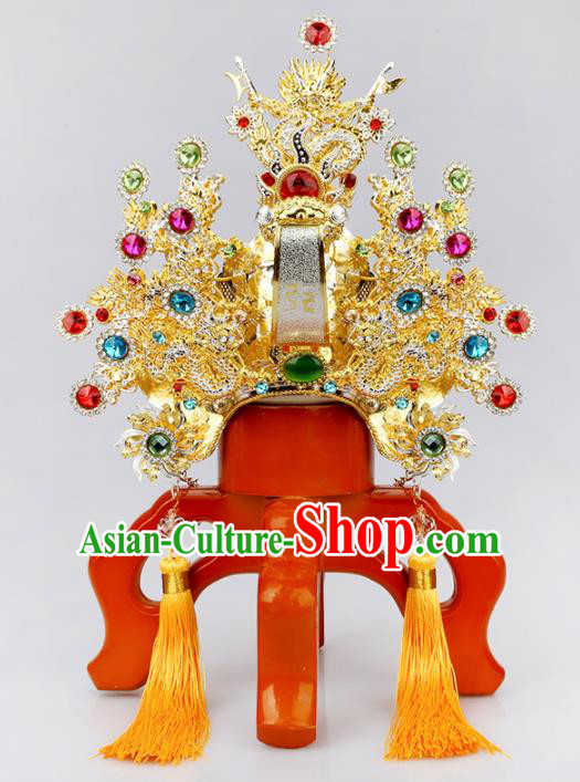 Chinese Traditional Religious Hair Accessories Feng Shui Taoism Head Coronet
