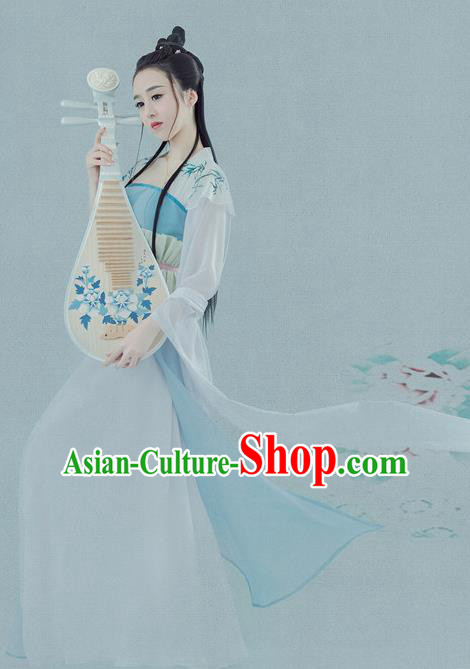 Chinese Ancient Drama Princess Hanfu Dress Traditional Tang Dynasty Palace Lady Historical Costume for Women