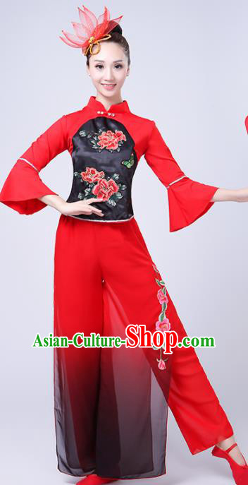 Chinese Traditional Folk Dance Costume Classical Yangko Dance Clothing for Women