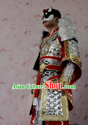 Chinese Ancient Cosplay General Costume Traditional Swordsman Body Armor for Men