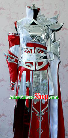 Chinese Ancient Cosplay Swordsman Costume Traditional General Body Armor for Men