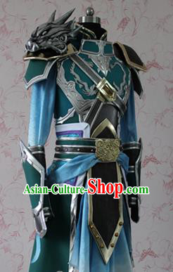 Chinese Ancient Cosplay Swordsman Costume Traditional General Zhao Yun Armor Clothing for Men