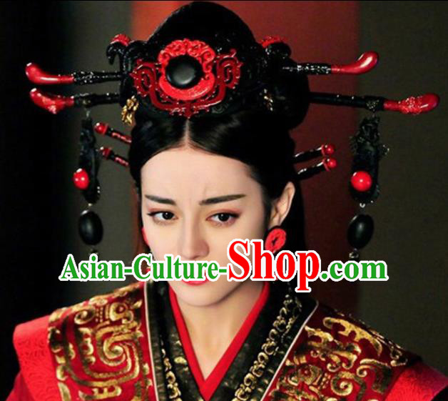 Asian Chinese Ancient Qin Dynasty Empress Hair Accessories Hairpins Headwear for Women