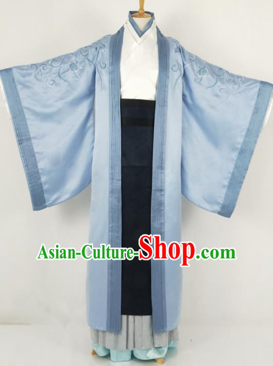 Traditional Chinese Ancient Nobility Childe Costume Han Dynasty Prince Embroidered Clothing for Men