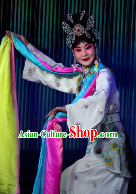 Traditional Chinese Beijing Opera Young Lady Embroidered Dress Ancient Swordswoman Historical Costume