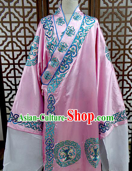 Traditional Chinese Beijing Opera Costume Peking Opera Niche Pink Robe for Men