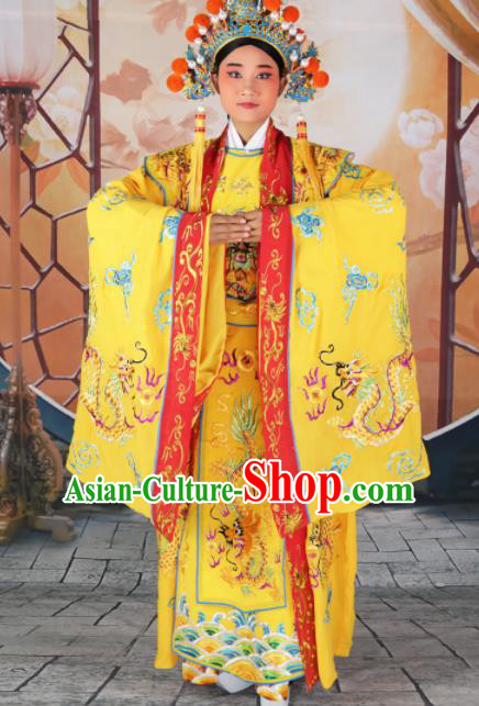 Chinese Traditional Beijing Opera Emperor Costume Peking Opera Royal Clothing and Hat