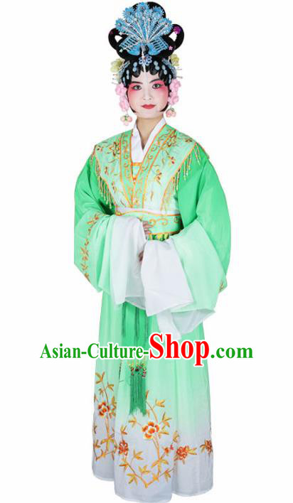 Traditional Chinese Beijing Opera Diva Costume Peking Opera Princess Green Dress