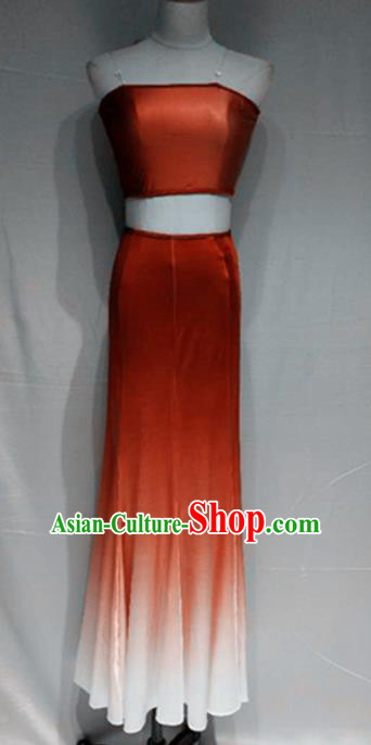 Traditional Chinese Classical Dance Costume China Peacock Dance Red Dress for Women