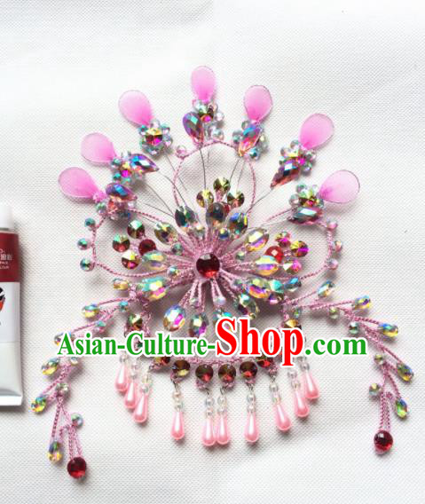 Asian Chinese Beijing Opera Actress Hair Accessories Hair Clip Ancient Princess Pink Hairpins for Women
