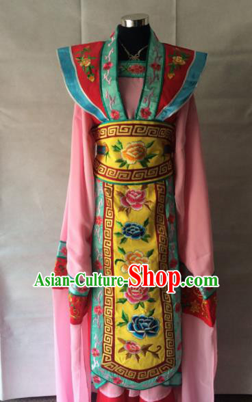 Traditional Chinese Beijing Opera Costume Ancient Court Princess Pink Dress for Women