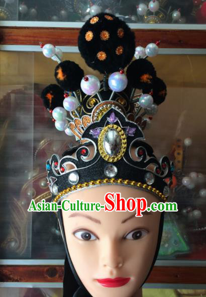 Asian Chinese Traditional Beijing Opera Takefu Headwear Ancient Nobility Childe Head Crown for Men
