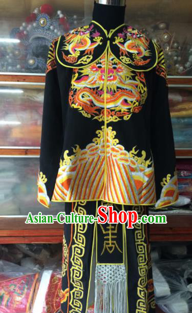 Traditional Chinese Beijing Opera Takefu Costume Peking Opera Imperial Bodyguard Black Clothing