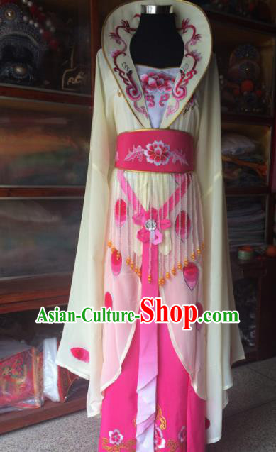 Traditional Chinese Beijing Opera Princess Costume Ancient Peri Beige Dress for Women