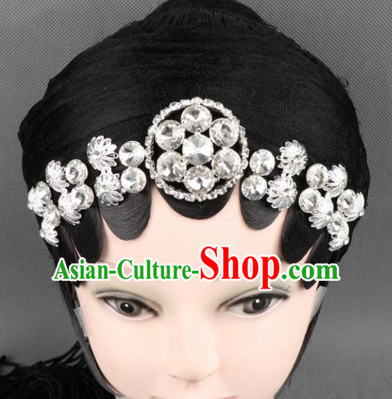 Asian Chinese Beijing Opera Diva Hair Accessories Ancient Princess Crystal Hairpins for Women