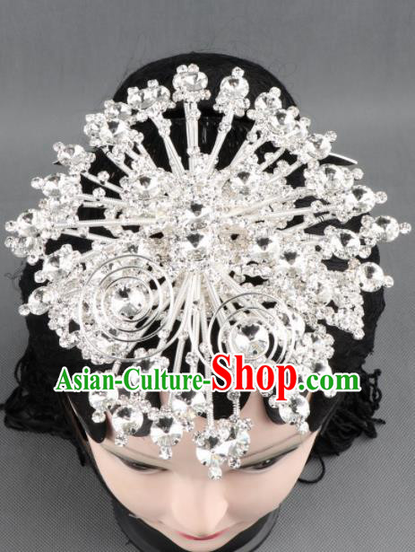 Asian Chinese Beijing Opera Diva Hair Accessories Ancient Princess Crystal Butterfly Hairpins for Women