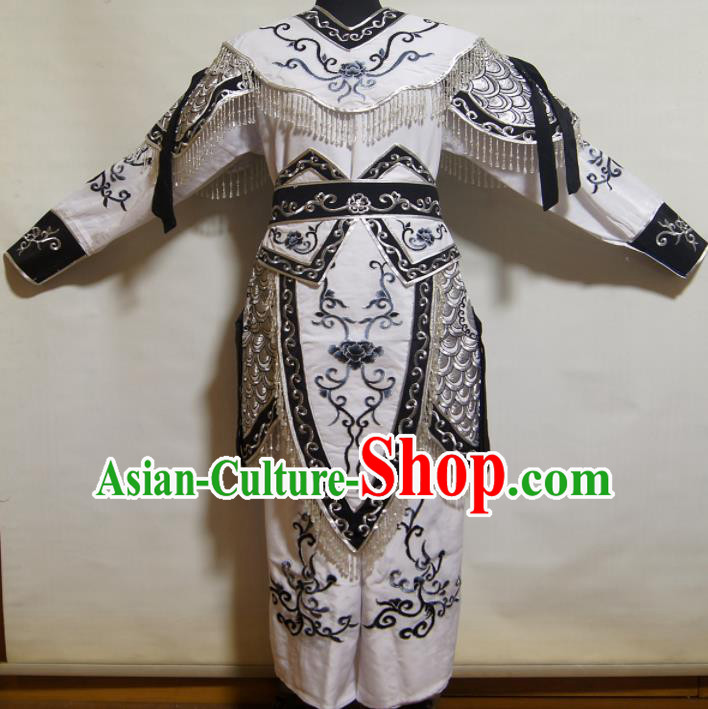 Traditional Chinese Beijing Opera Blues Costume Ancient Female Warrior Black Dress for Women