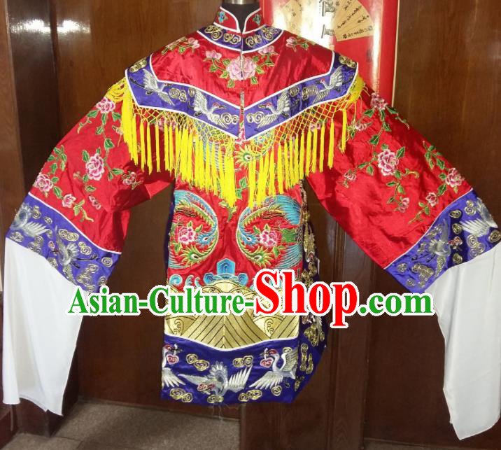 Traditional Chinese Beijing Opera Queen Costume Ancient Imperial Concubine Red Dress for Women