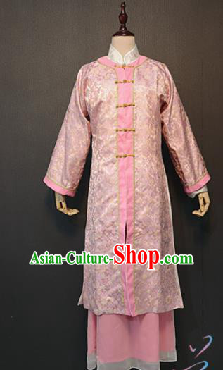 Traditional Chinese Ancient Drama A Dream in Red Mansions Nobility Lady Qing Wen Pink Costume for Women
